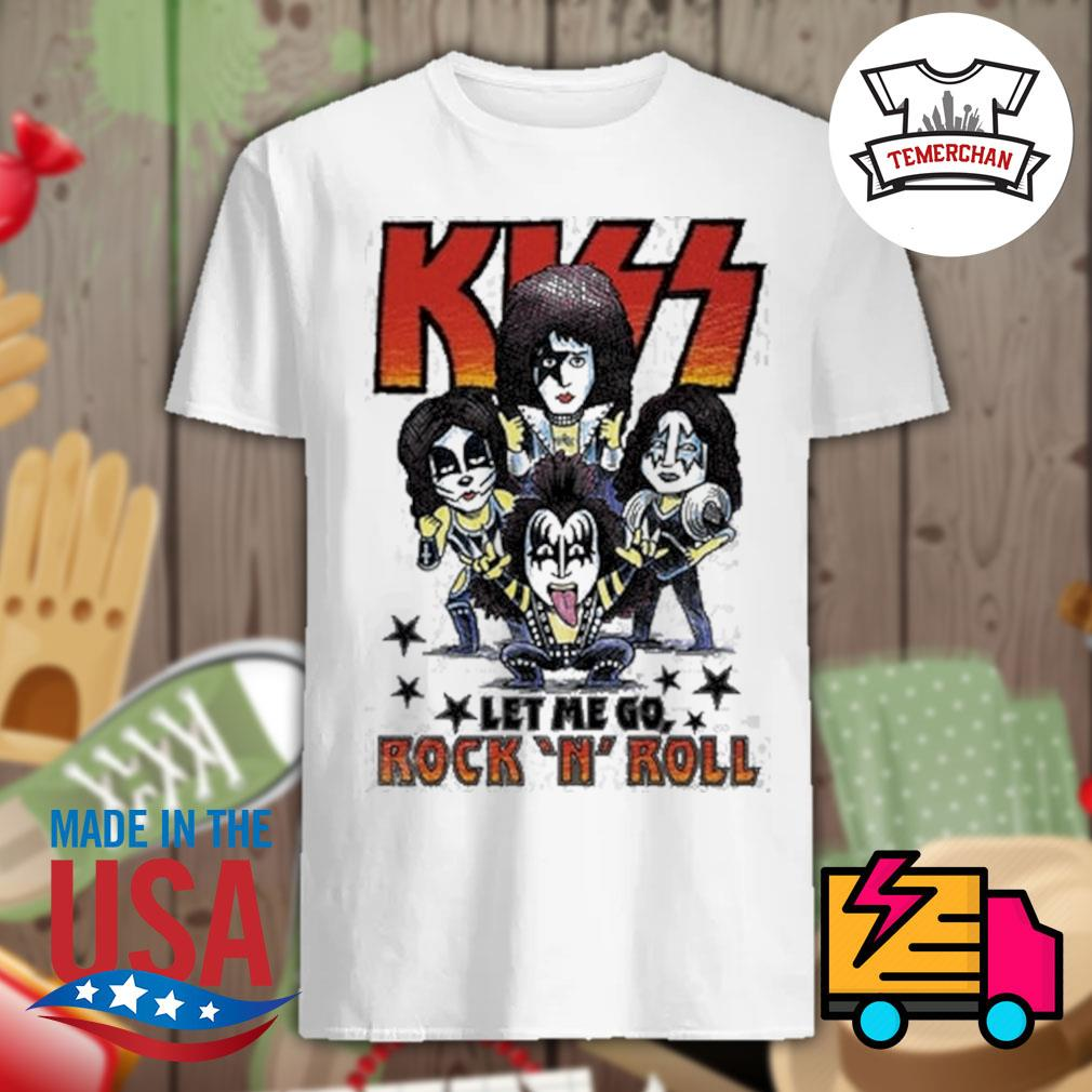 Amplified Kiss chibi let me go Rock 'N' Roll shirt