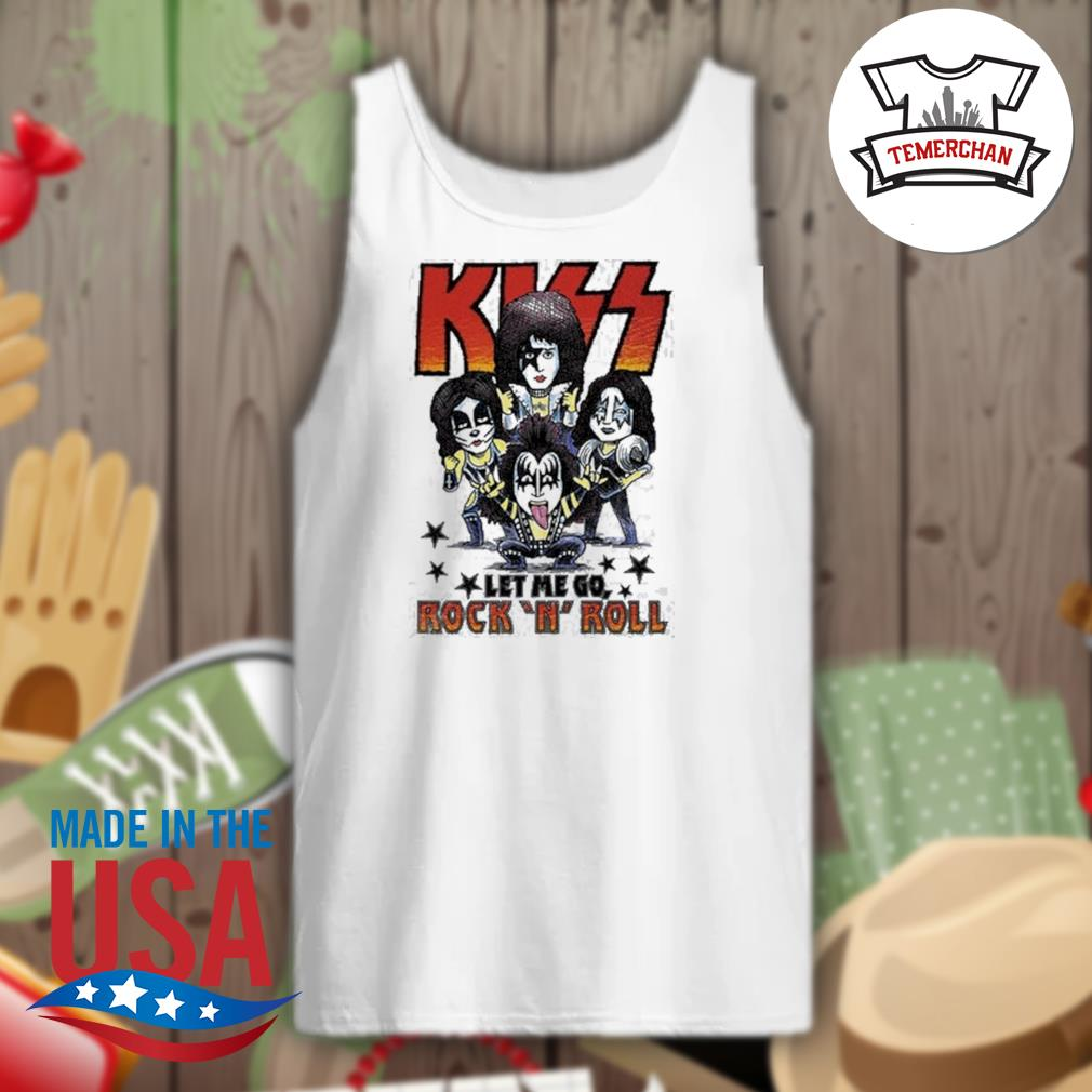 Amplified Kiss chibi let me go Rock 'N' Roll s Tank-top
