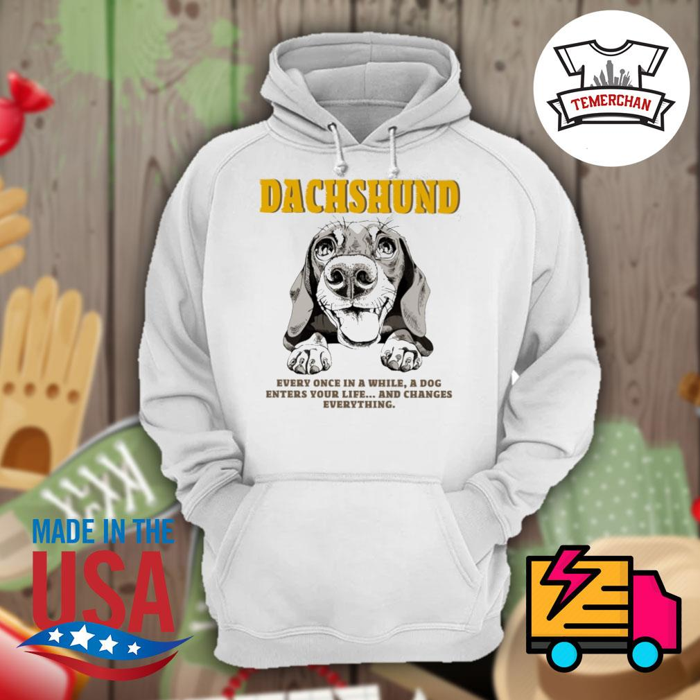Dachshund every once in a while a dog enters your life and changes everything s Hoodie