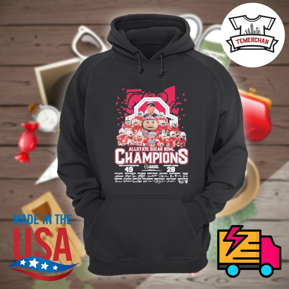 All State Sugar Bowl Champions Ohio State Buckeyes 49 Clemson Tigers 28 signatures s Hoodie