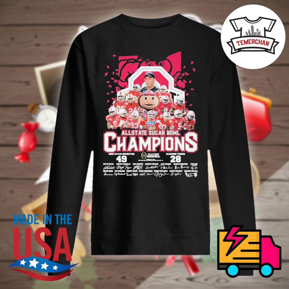 All State Sugar Bowl Champions Ohio State Buckeyes 49 Clemson Tigers 28 signatures s Sweater