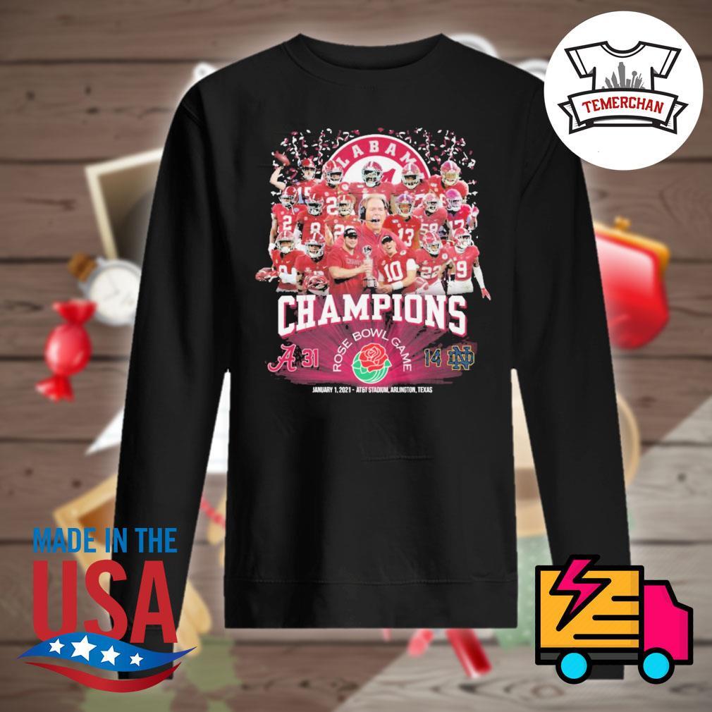 Champions Rose Bowl Game Alabama Crimson Tide 31 14 Notre Dame Fighting Irish s Sweater
