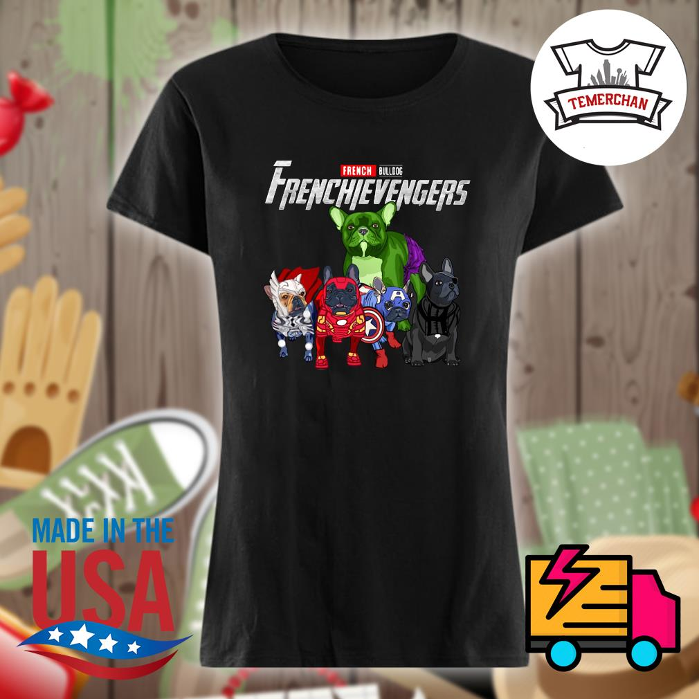 Marvel Avenger French Bulldog Frenchievengers s Ladies t-shirt