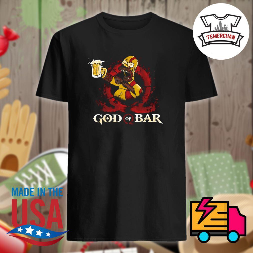 The Simpsons Kratos Homer God of War shirt