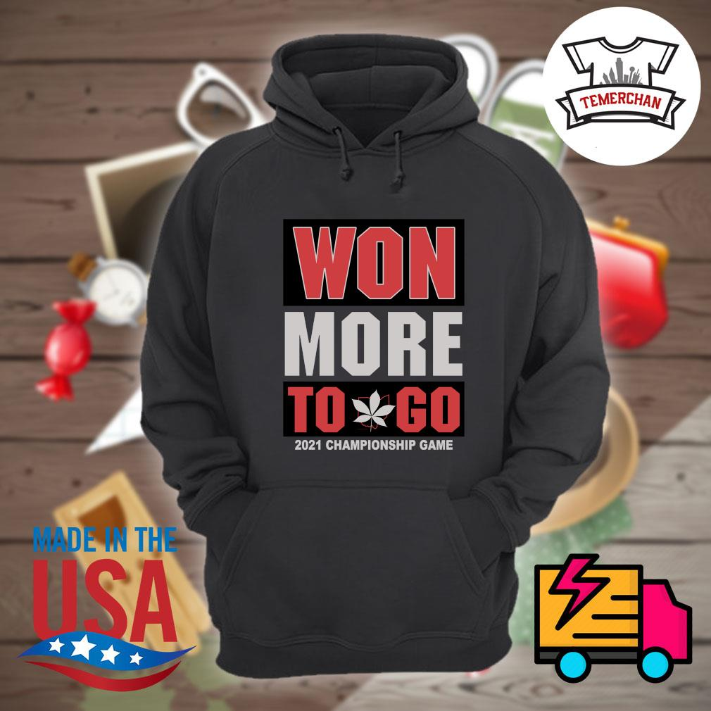 Won more to go 2021 Championship game s Hoodie