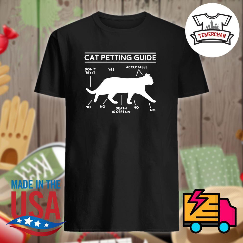 Cat petting guide shirt